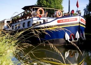 Peniche sur le Canal du Midi